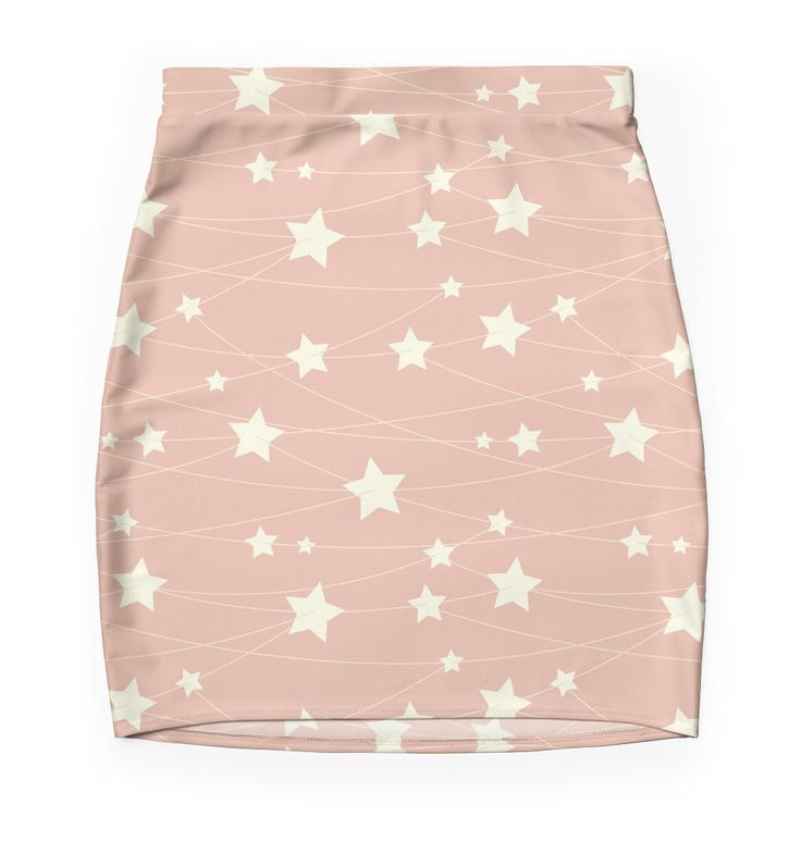 Hanging Stars - ashy pink by LunaPrincino  #redbubble #print #prints #art #design #designer #graphic #clothes #for #women #apparel #shopping #mini #skirt #bottom #fashion #style #pattern #texture #pretty #cute #beautiful #girlish #dreamy #hanging #stars #ashy #pink #and #cream #beige #fantasy #starry #pale #pastel #magic #gift #idea #trend #summer #spring