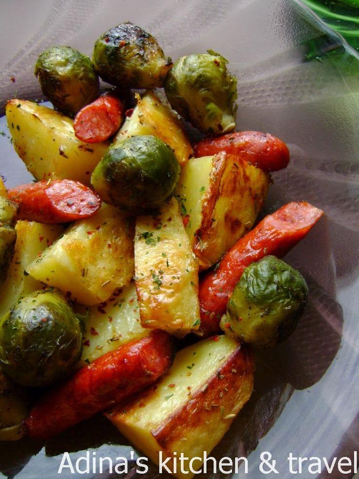 Adina's kitchen & travel: Cartofi cu varza de Bruxelles