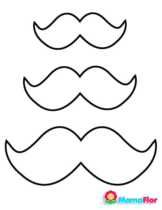 Moldes Bigotes Corbatas Sombrero Y Michi Para Decoracion Dia