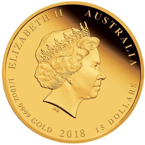 1 10 Oz 9999 Gold Coin 2018 15 Dollars Australian Lunar Series Ii 2018 Year Of The Dog Gold Proof Coins The Perth Mint Coins Gold Coins Proof Coins
