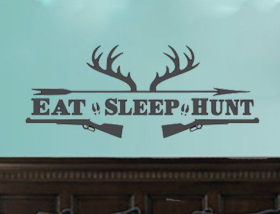 Perfect decal for a boy's room, man cave, hunting room or for any hunter lover's room.