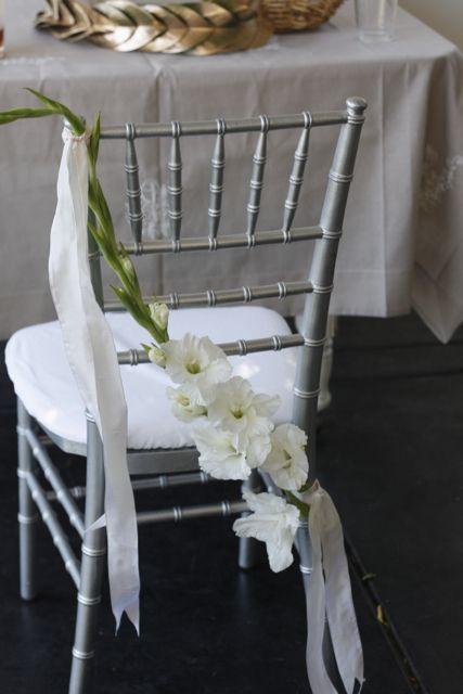 gladiola chair decor (by ariella chezar; photo by holly heider chapple)