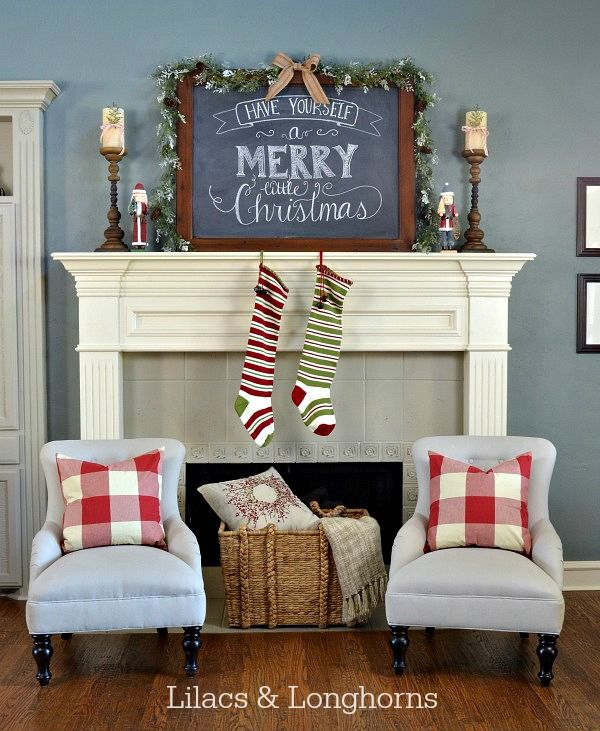 Christmas Mantel Inspiration- At Home with The Barkers
