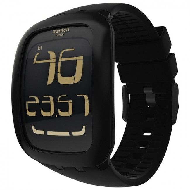 Swatch Touch  Wrist watch with touch screen. Swipe to change between functions: alarm, timezones and more.