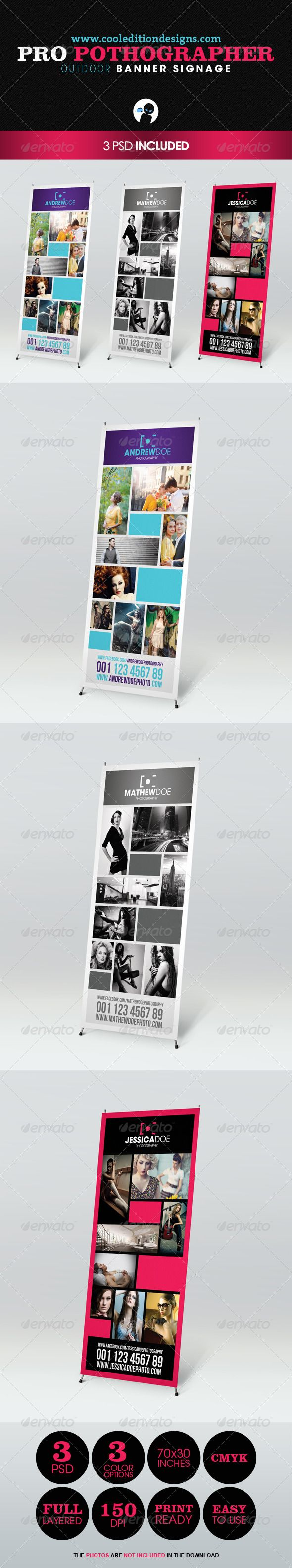 Pro Photographer Outdoor Banner Signage 1 | $6
