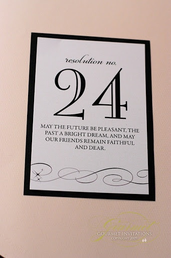 Kathryn + Kyle: New Year's Eve Wedding Invitations | Gourmet Invitations