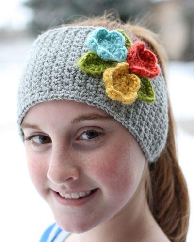 Hooked Floral HeadbandCrochet Flowers, Flower Hats, Crochet Projects, Flower Headbands, Little Flower, Colors Combinations, Crocheted Headbands, Cool Ideas, Crochet Headbands