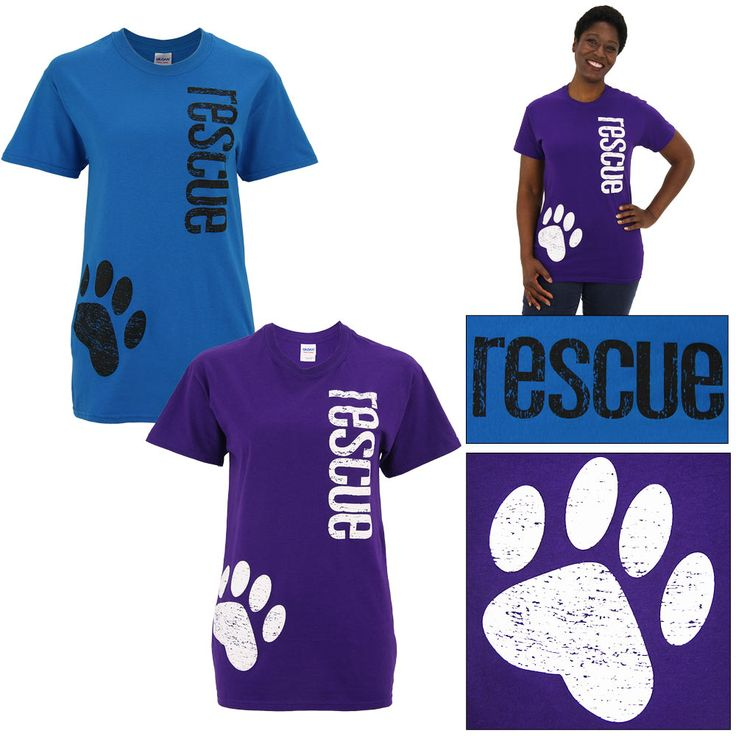 Distressed Paw Rescue T-Shirt www.theanimalrescuesite.greatergood.com