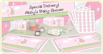 Stork - It's A Girl - Baby Shower Theme: Moira Baby, Green Baby Showers, Girl Baby Showers, Aubry Shower, Baby Shower Themes, Baby Girls, Girls Baby Shower, Baby Shower 1St, Baby Stuff