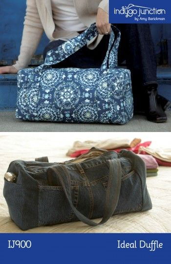 Deconstruct some jeans to make this duffle (inspiring)