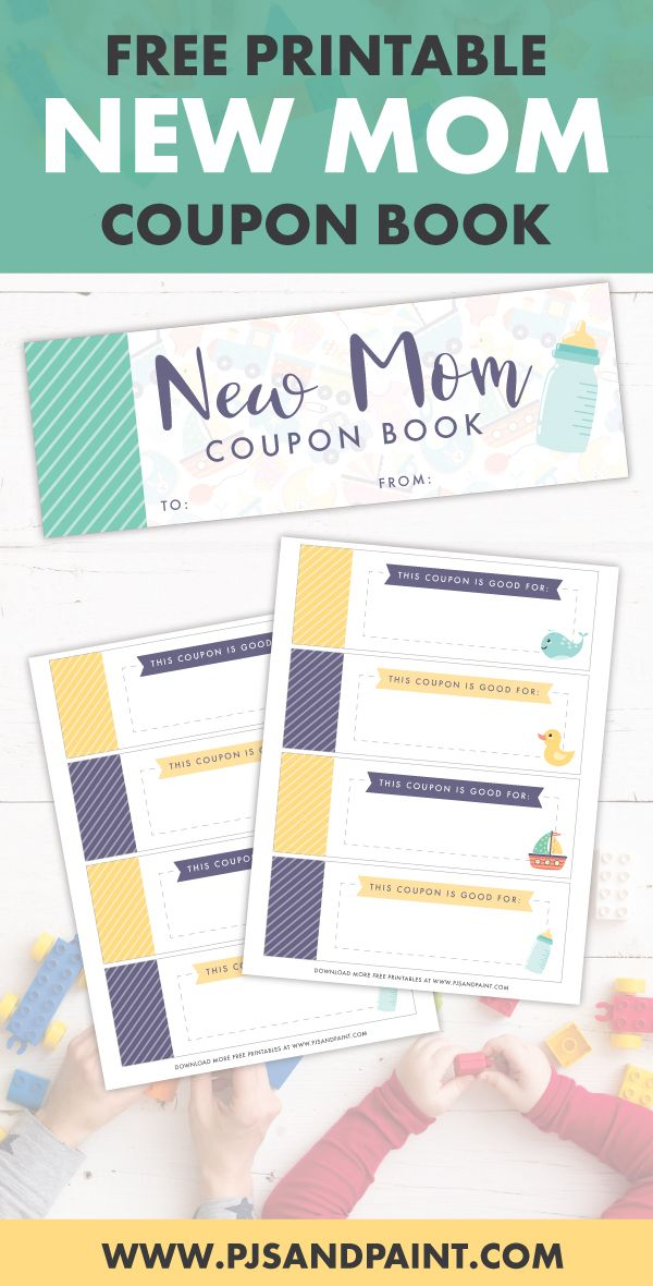 Free Printable New Mom Coupon Book Printable Baby Shower Gift In 2020 Mom Coupon Book Mom Coupons Baby Shower Printables