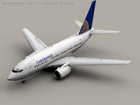 3D Model Boeing 737 600 Continental c4d, obj, 3ds, fbx, ma, lwo 11599