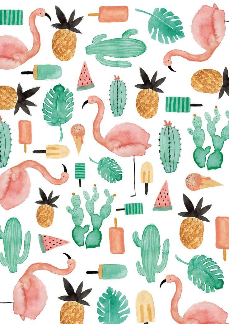 die besten 25 flamingo illustration ideen auf pinterest flamingo tapete flamingo musterdruck. Black Bedroom Furniture Sets. Home Design Ideas
