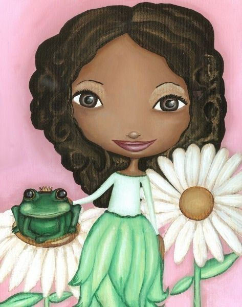 African American Princess Baby Girl Nursery Decor Crowned