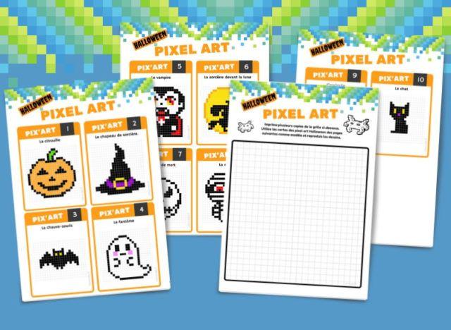 10 fiches de Pixel Artwork d'Halloween à télécharger gratuitement