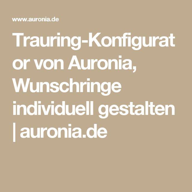 Trauring-Konfigurator von Auronia, Wunschringe individuell gestalten | auronia.de