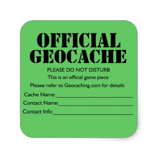 Slobbery image with official geocache printable