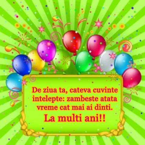 Romanian Birthday wishes (La multi ani), MESAJE DE LA MULTI ANI
