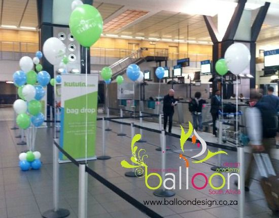 Branded balloons for Kulula Brand Activation Event