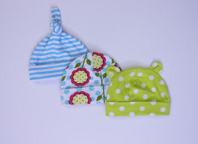 Come fare cappellini per neonato - Tutorial e Cartamodello  0a79bd3fceec