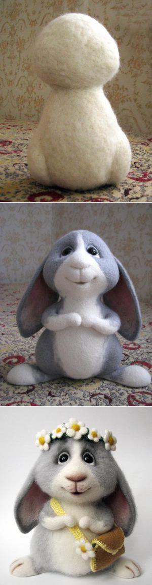 Процесс валяния игрушек из шерсти ...♥ Deniz ♥ Bunny