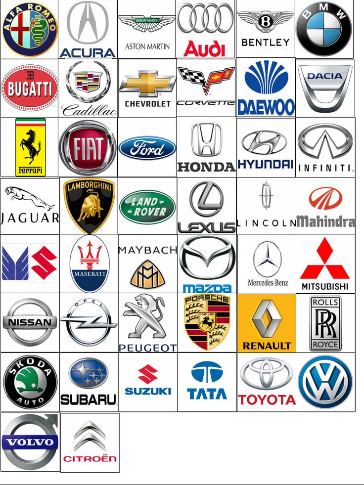 Logos of different automobile brand Car logo design
