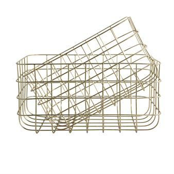 House Doctor storage basket gold 2-pack - high baskets - House Doctor
