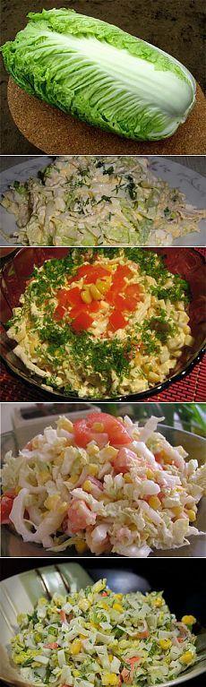 Салаты из пекинской капусты и 15 рецептов приготовления