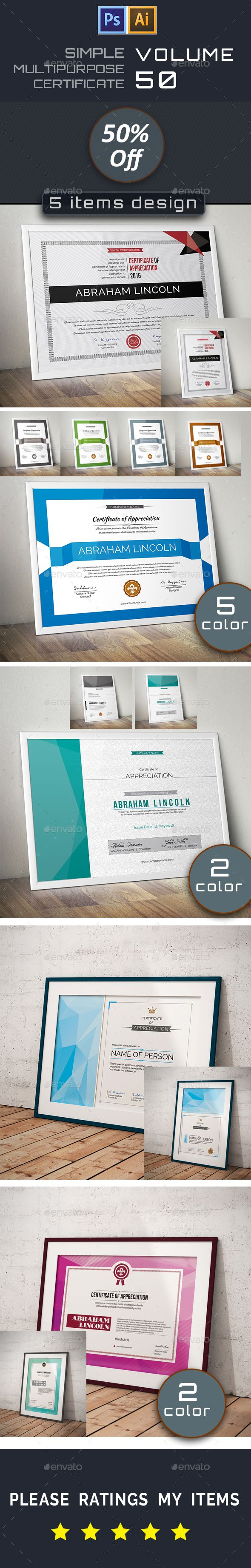 31 best psd templates certificate design images on pinterest simple certificate bundle 50 yadclub Image collections