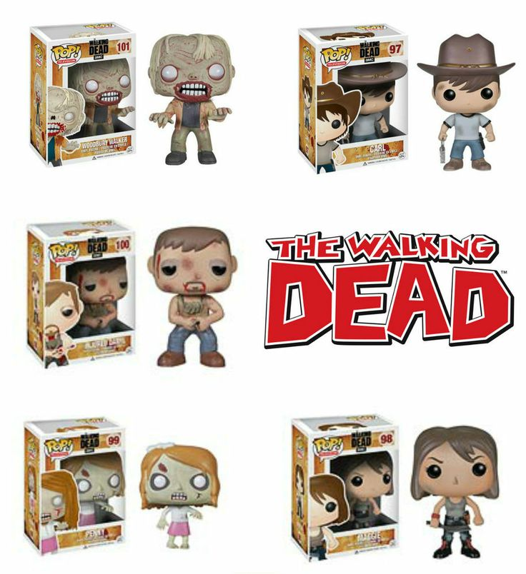 5f6ed697605 VINYL POP SET OF 5 - THE WALKING DEAD - SERIES 3 -