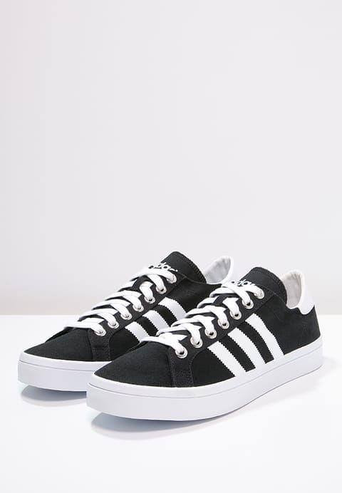 adidas Originals COURTVANTAGE - Sneakers - core black/white/metallic silver - Zalando.dk