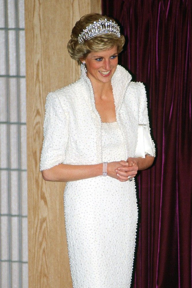 Glittering, romantic gown worn by Princess Diana to be auctioned