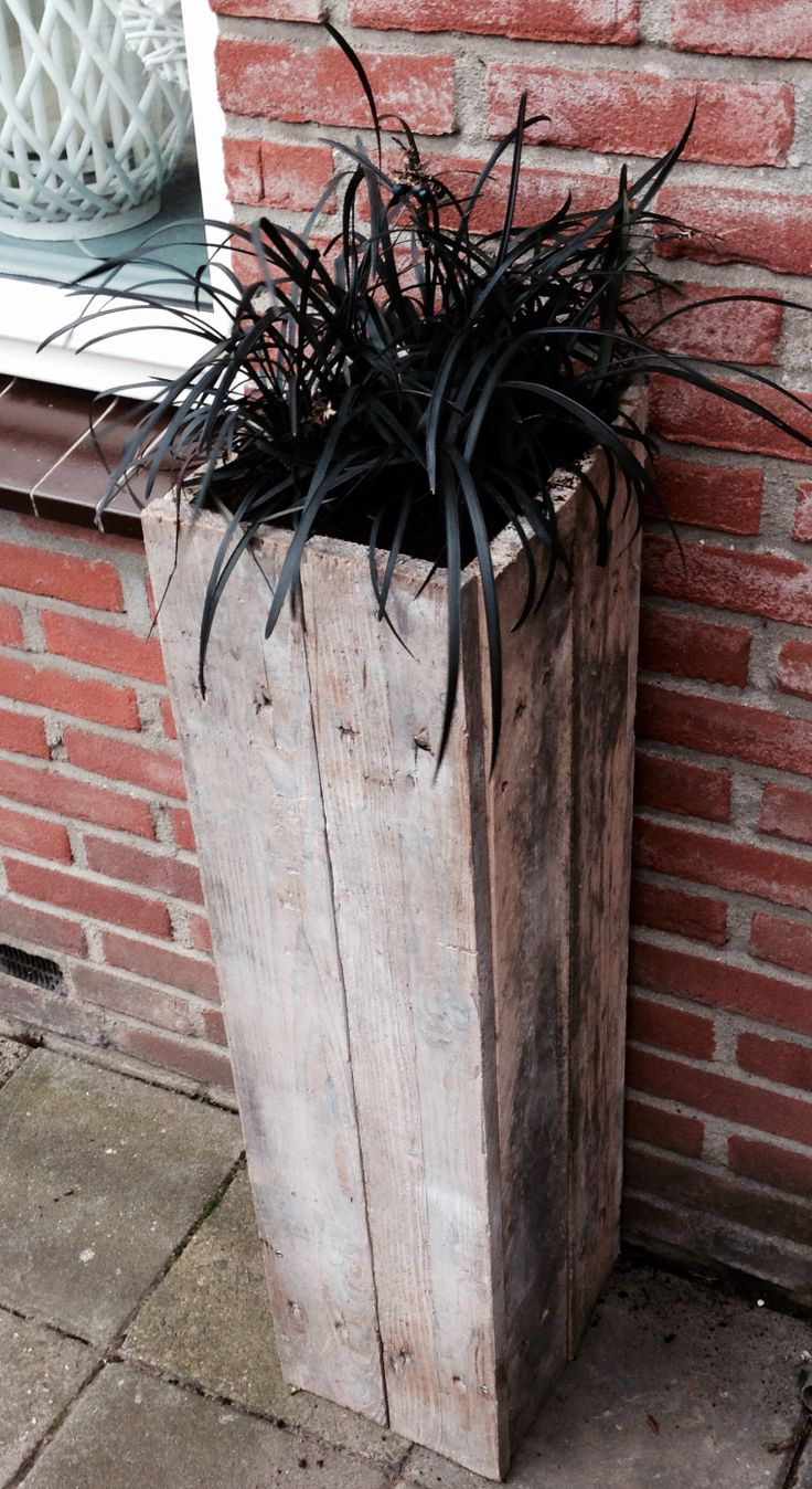 Pallethout plantenbak