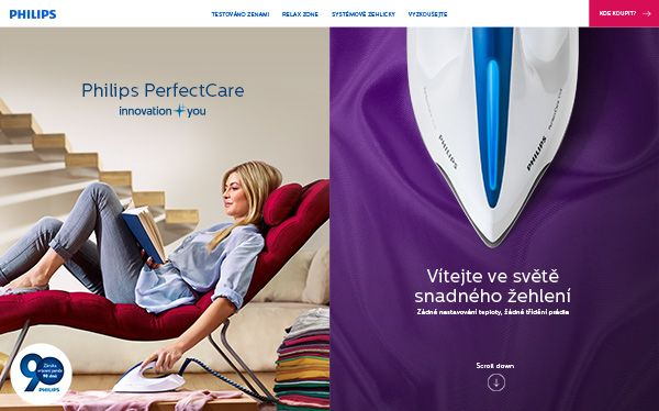 For Philips autumn campaign we launched an unprecedented chain testing across the whole Czech Republic. Relax while ironing at www.snadnezehleni.philips.cz/. #philips #iron