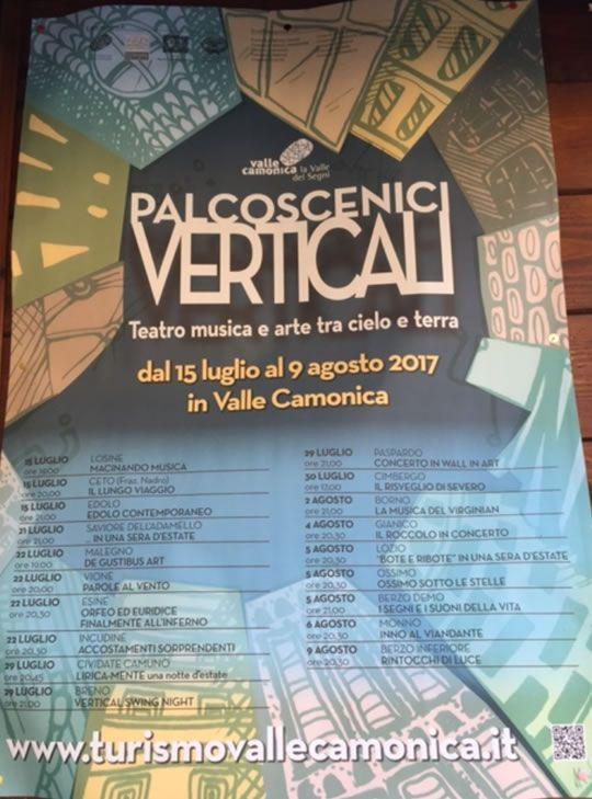 Palcoscenici Verticali in Valle Camonica  http://www.panesalamina.com/2017/57338-palcoscenici-verticali-in-valle-camonica.html
