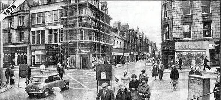 The junction at St. Nicholas Street, Schoolhill and George Street.