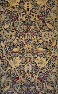 William Morris (1834-1896) was an English writer, artist, poet, socialist, craftsman, and designer who is probably best known for his influence on the Arts and Crafts Movement and wallpaper design in particular.