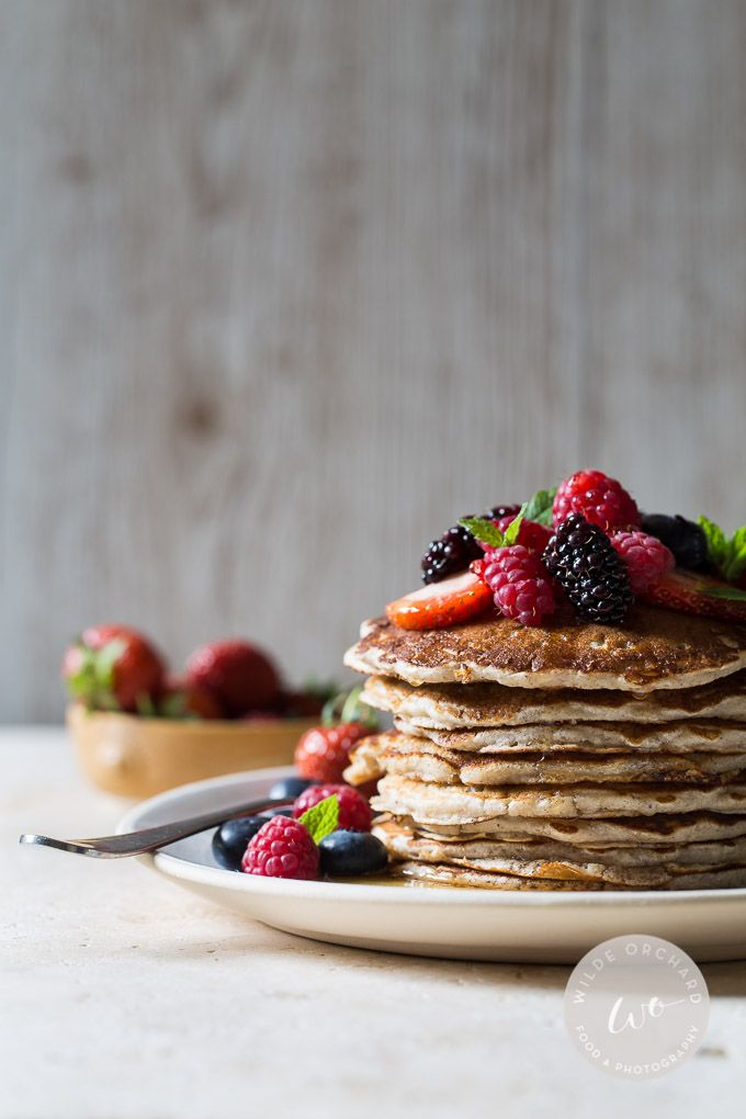 The Best Gluten Free Buttermilk Pancakes. Get the effortless feel good recipe at Wilde Orchard. | www.wildeorchard.co.uk