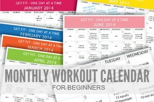 One Day at a Time - Monthly Beginner's Workout Series • A Natural Living Blog