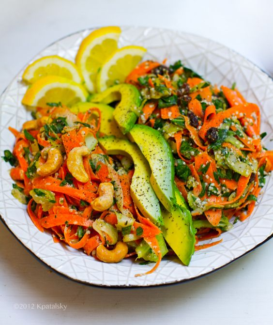 Spicy + Sweet Shredded Carrot Salad DuoHealthy Vegan, Salad Recipes, Vegan Recipe, Shredded Carrots Recipe, Healthy Salad, Salad Duo, Carrots Saladrecip, Dinner Recipe, Shredded Carrots Salad