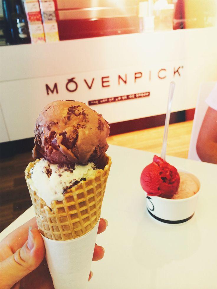 Movenpick ice cream, Swiss chocolate and mint chocolate, so delicious