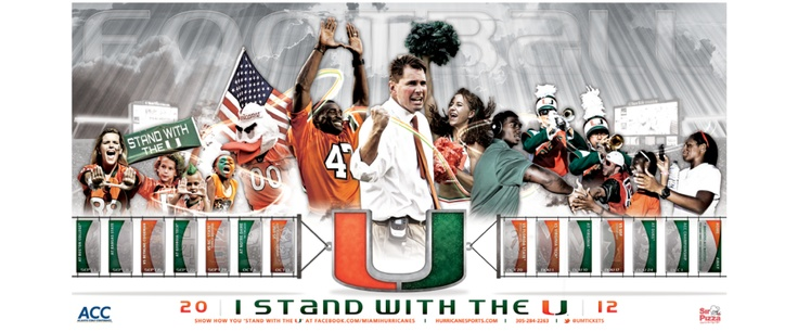 Miami Football Poster | Old Hat Creative