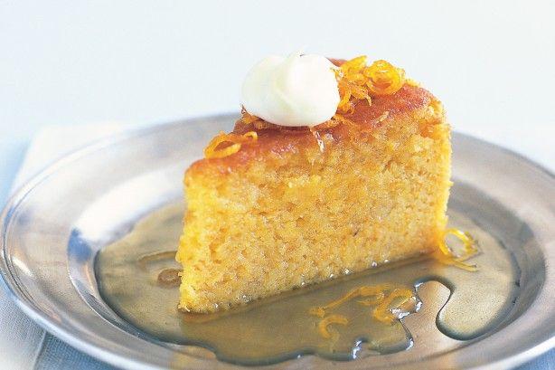 Whole orange & almond cake with botrytis syrup main image