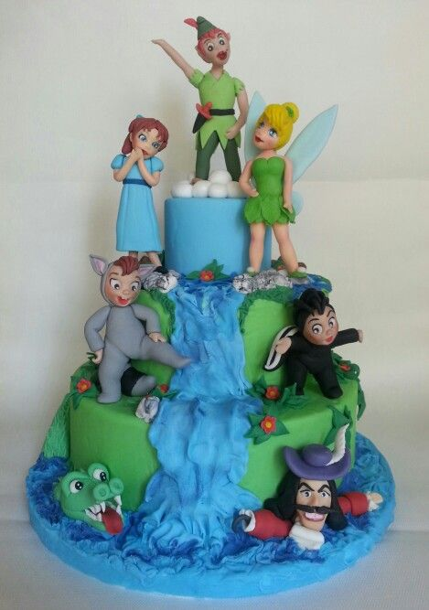 peter pan and tinkerbell wedding cake 89 best pan birthday images on 18305