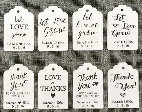 20 Hanging CUSTOM Favor Tags bulk wholesale succulent prices at the succulent source - 1