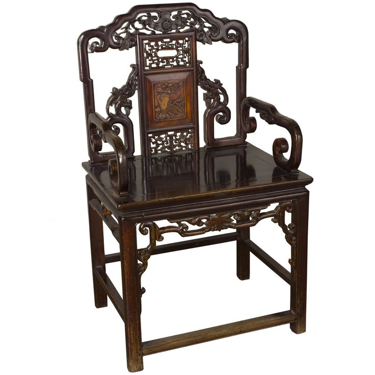 Carved Antique Chair   OrientalFurniture.com