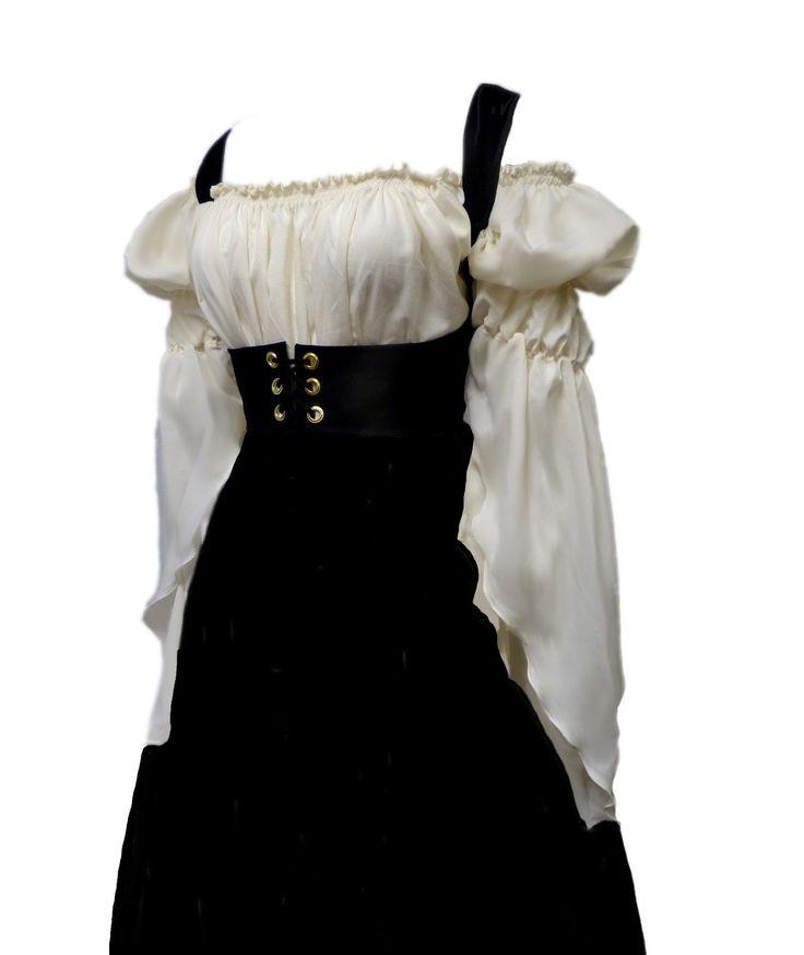 I D D Renaissance Medieval Peasant Dress Up Pirate Faire Celtic Blouse | eBay