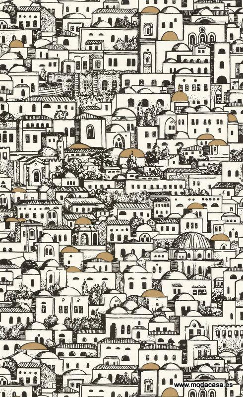 Papel Pintado Cole & Son  Mediterranea 77/5016 . Disponible online en Modacasa.es