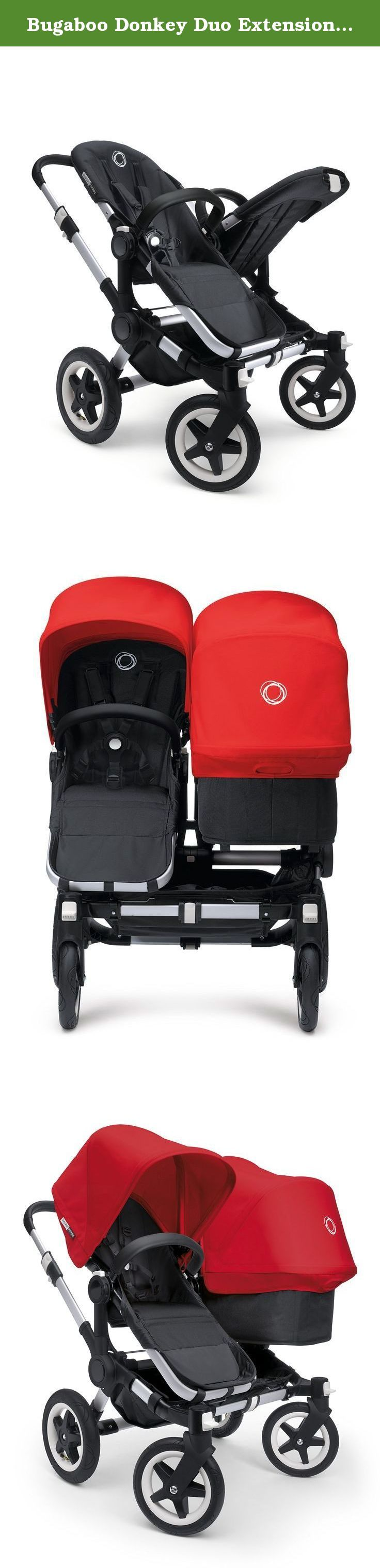 Bugaboo Donkey Duo Extension Set, Aluminum. The Duo Extension set converts the mono Bugaboo Donkey to a double stroller to grow with your family, the bugaboo donkey transforms - in just three simple clicks - from a mono to a duo stroller. And back again. This means you can use it for one kid, two kids of different ages, or twins. To complete the duo extension set, please add a bugaboo donkey sun canopy in the color of your choice. This extension set is compatible with the bugaboo donkey…