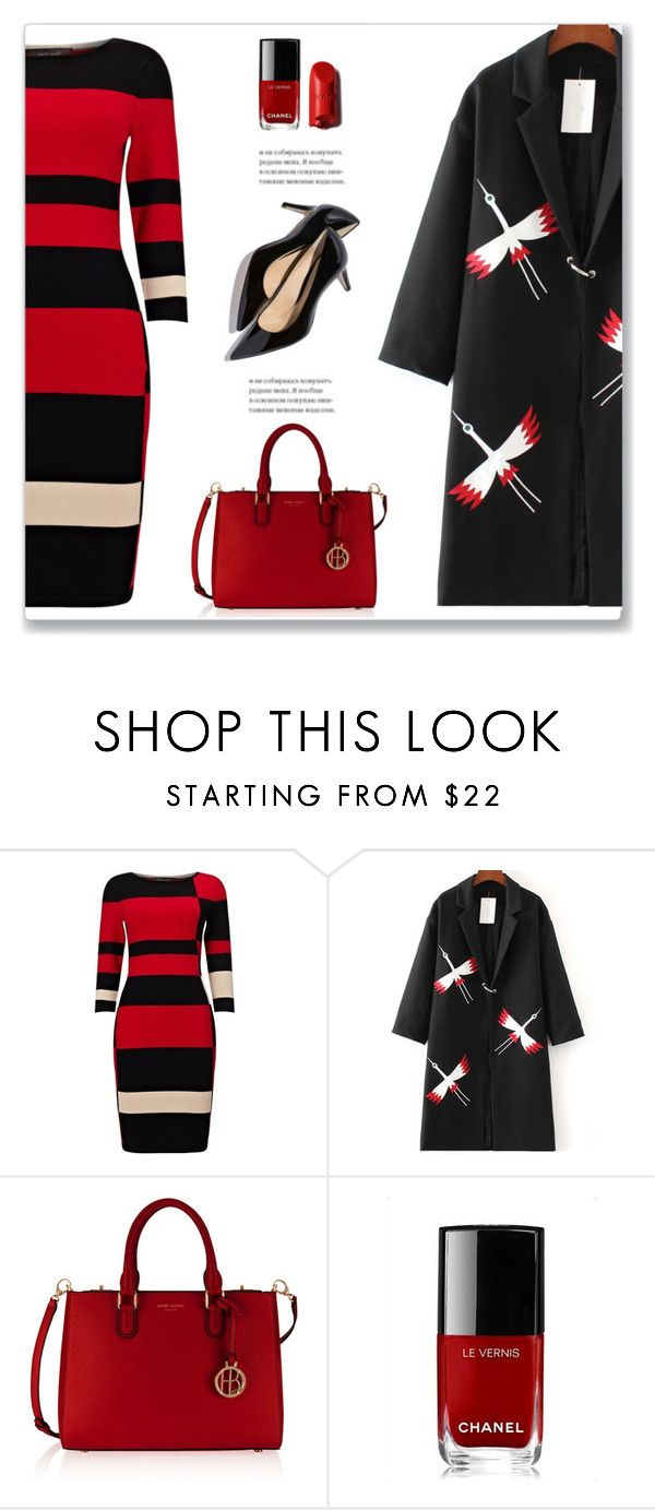 """""""Winter Print Mix"""" by mmmartha ❤ liked on Polyvore featuring Phase Eight, WithChic, Henri Bendel, Chanel and M. Gemi"""